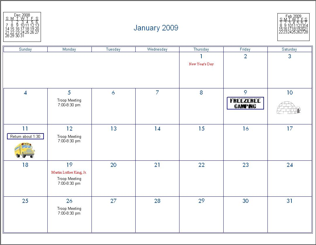 "January Calendar 2009 : Search results for ""january month calendar"
