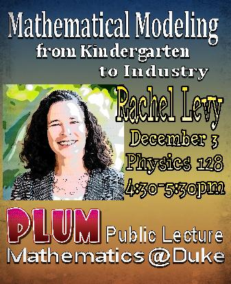 Rachel Levy PLUM lecture 2018